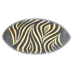 Oval Zebra Bowl