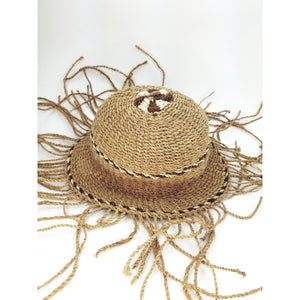 Wicker Sun Hat - Tassles