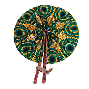 African Fan  - Yellow/Green Circles