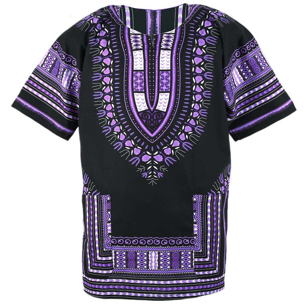 Black and Purple Dashiki