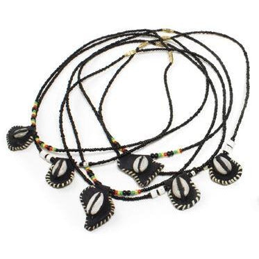 Leather Cowrie Shell Necklace