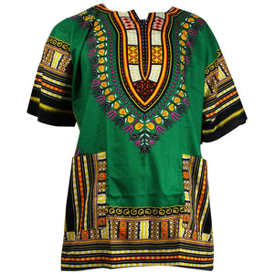 Unisex Dark Green Dashiki