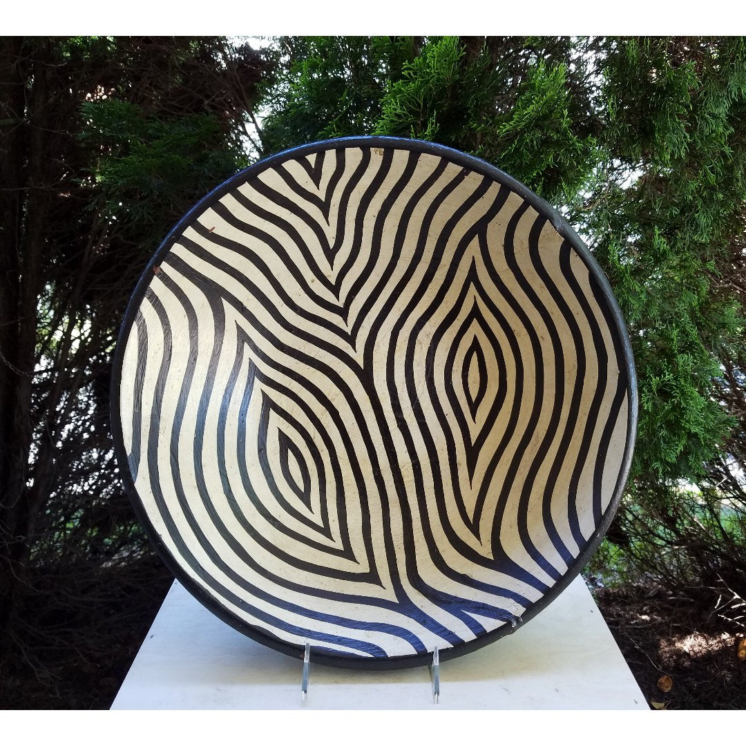 Wooden Zebra Bowl