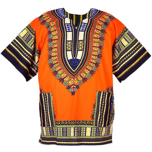 Unisex Orange Dashiki