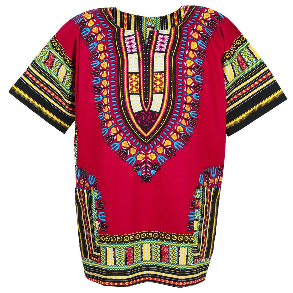 Unisex Red Dashiki