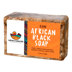 Sahara Naturals 100% Raw Organic African Black Soap
