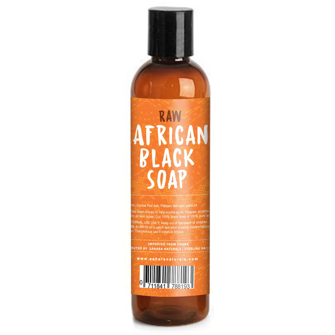 Sahara Naturals 100% Raw African Liquid Black Soap