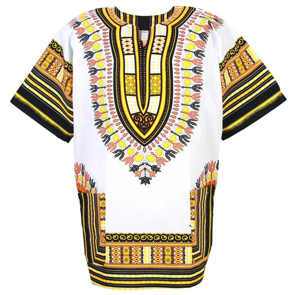 White and Yellow Dashiki