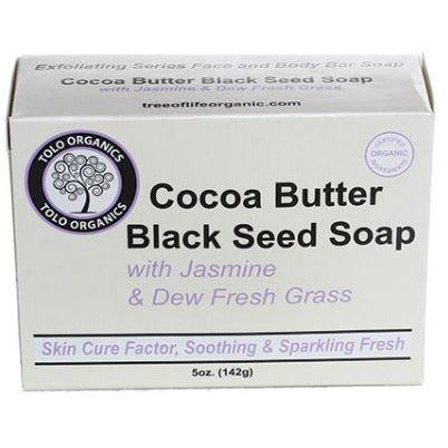 Tree of Life Organics Cocoa Butter Black Seed Soap with Jasmine & Dew Fresh Grass
