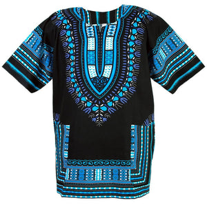 Black and Light Blue Dashiki