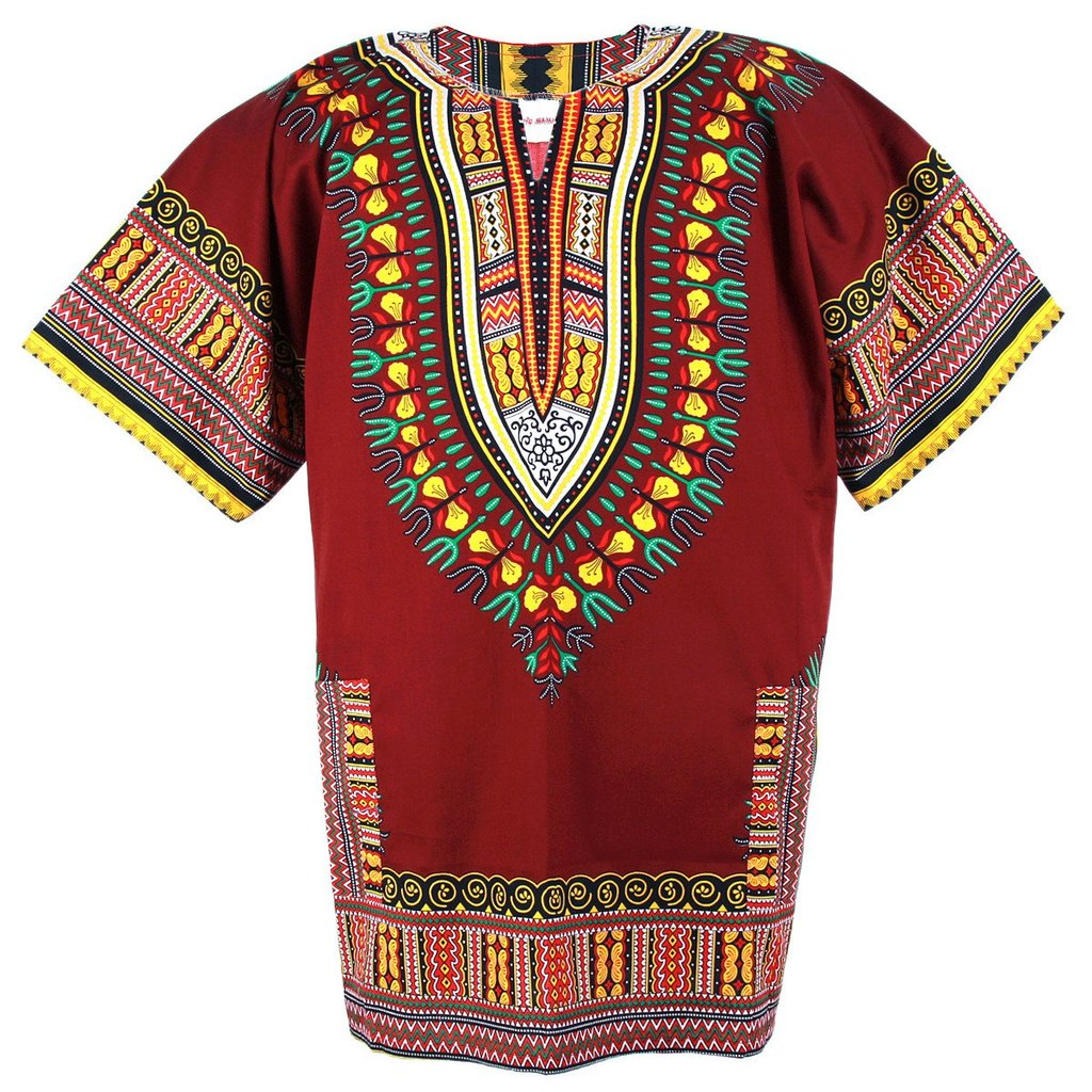 Unisex Purple Dashiki