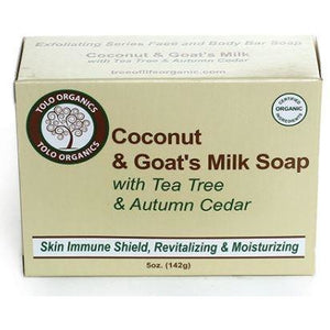 Tree of Life Organics Coconut & Goat's Milk Soap with Tea Tree and Autumn Cedar