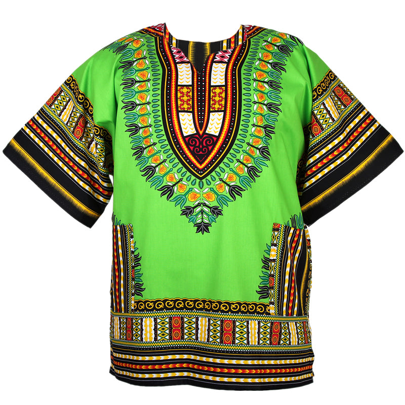 Unisex Lime Green Dashiki