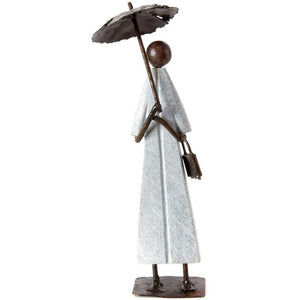 Recycled Metal Lady In The Rain
