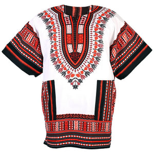 White and Red Dashiki