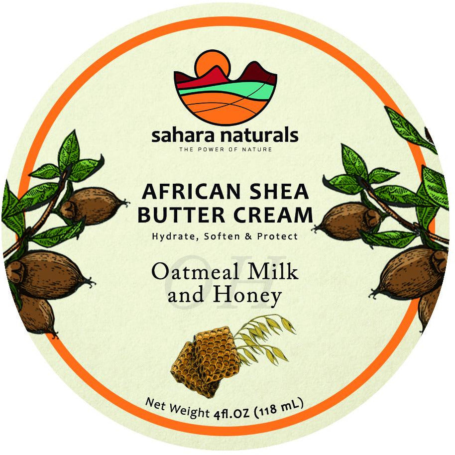 African Shea Butter Cream | Oatmeal Milk & Honey