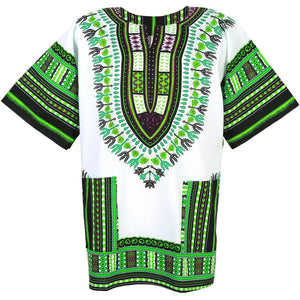 White and Green Dashiki