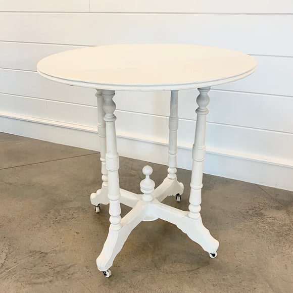 White Round Table Rental