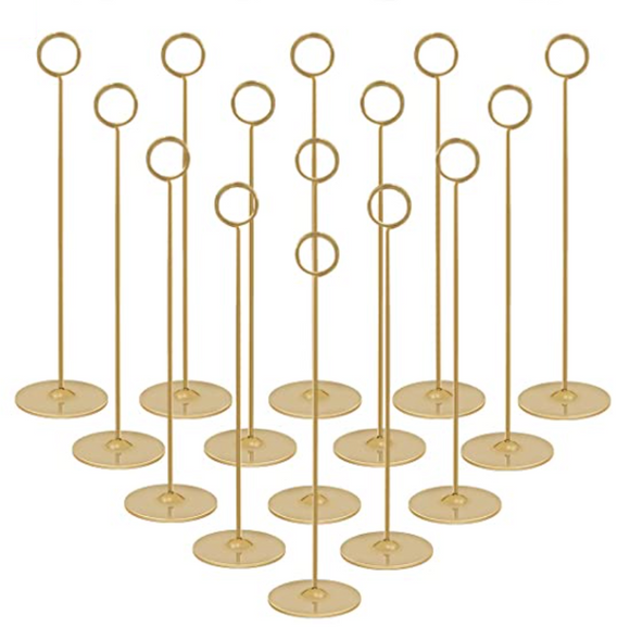 Gold Table Number Holder Rental Collection