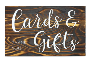 Wood Cards & Gifts Sign
