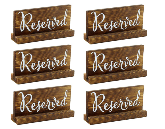 Wood Reserved Sign Rental Collection