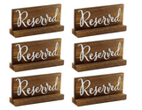 Wood Reserved Sign Collection