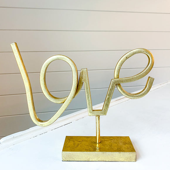 Gold Script Love Sign