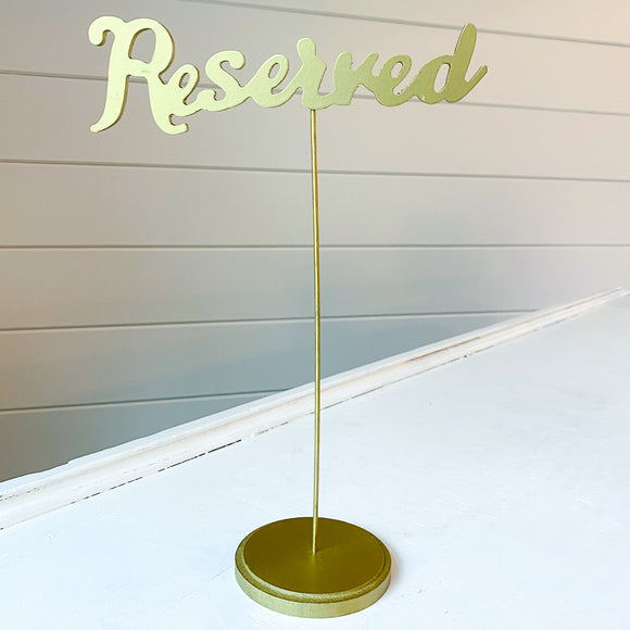 Gold Calligraphy Reserved Sign Collection