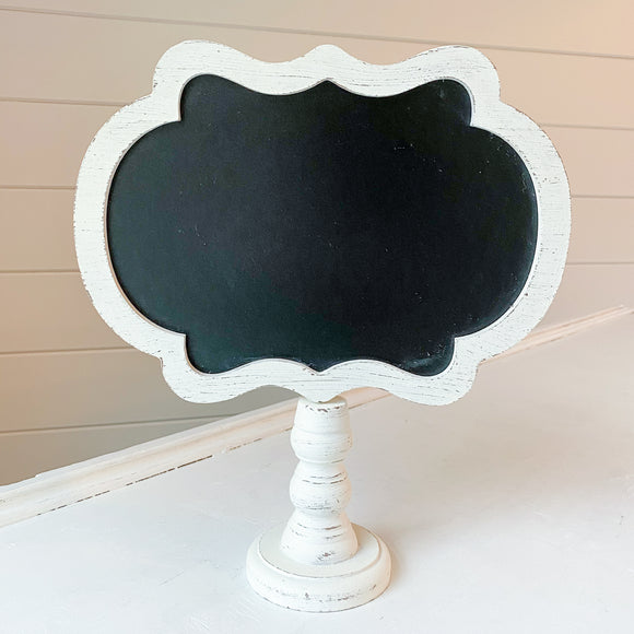 White Framed Chalkboard Sign Rental