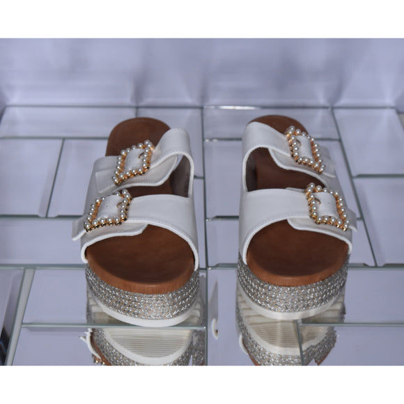 May Platform Sandal - White