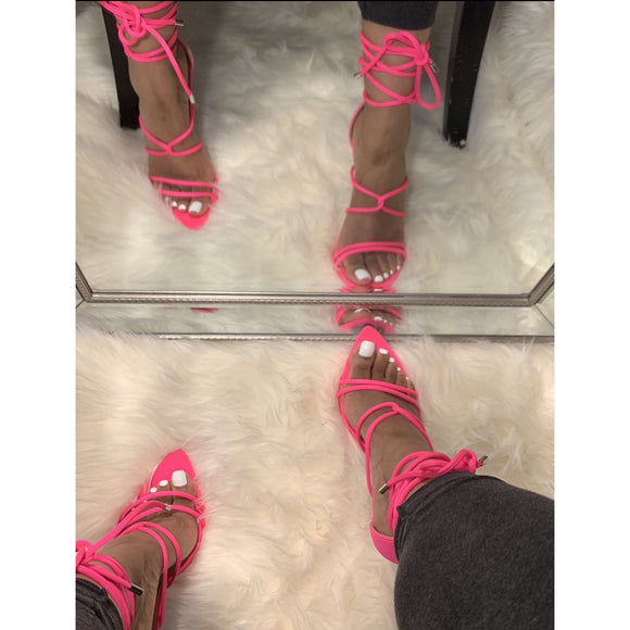 April Heel- Hot Pink