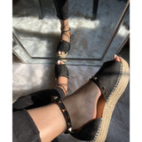 Studded Espadrille- Black