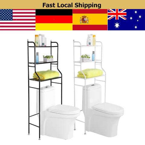 Image of 1 Set 3-Tier Iron Toilet Towel Storage Rack
