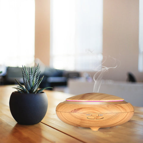 Aromatherapy Wood Grain Essential Oil Ultrasonic Cool Mist Diffuser