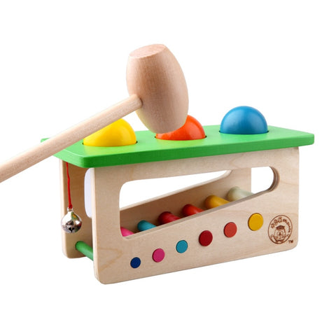 Image of Children's Wooden Tap Bench Montessori Toy