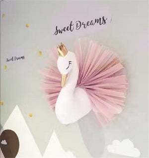 Cute 3D Golden Crown Hanging Swan For Kids Room