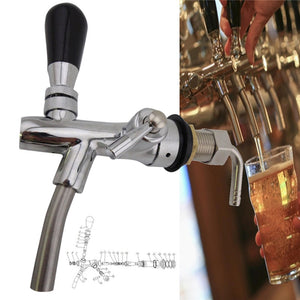 G5/8 Adjustable Kegerator Draft Shank Beer Faucet with Flow Controller