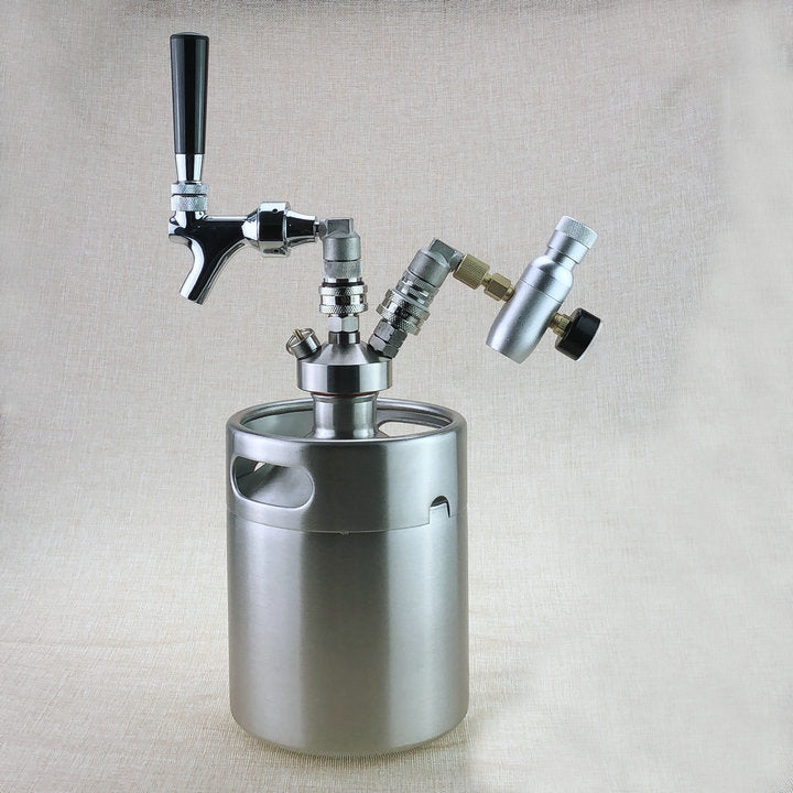 Homebrew 5L keg + Tap Dispenser with Draft beer Faucet and Co2 Keg Charger