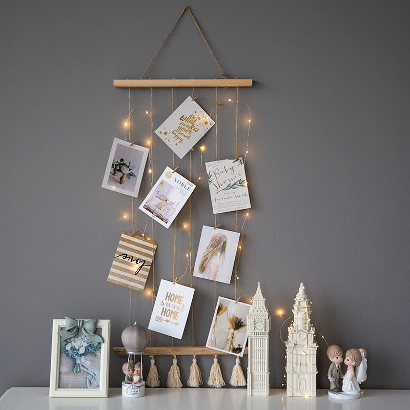 Nordic Hemp Hanging Photo Display Decoration
