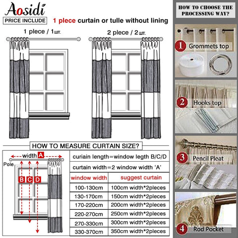 Image of Custom Made Modern Blackout Curtains for Living Room or Bedroom Window Solid Color