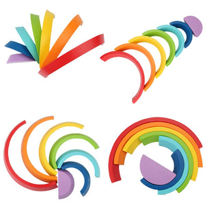 Montessori Wooden Rainbow Toy