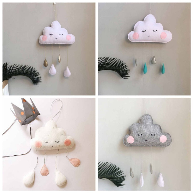 Nordic Style Cloud Raindrops Baby Room Wall Decorations