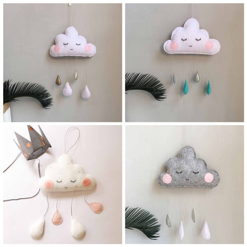 Image of Nordic Style Cloud Raindrops Baby Room Wall Decorations