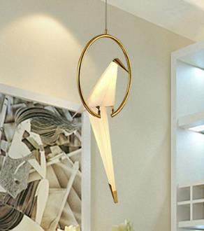 Image of Nordic Postmodern Creative LED Birdie Bedroom Chandelier