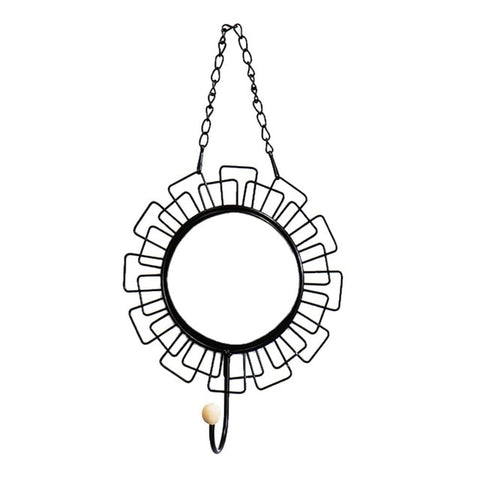 Image of Nordic Style Geometric Eye Flower Design Mirror