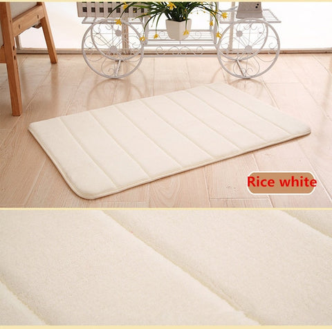 Image of Coral Fleece Memory Foam Bath Mat