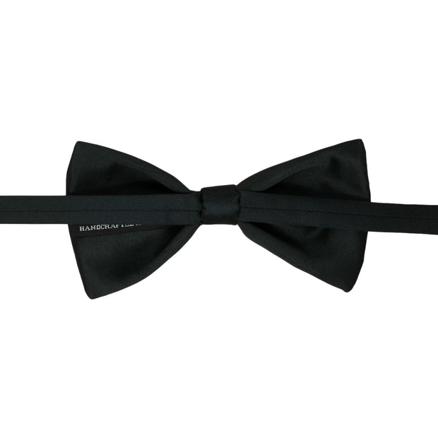 After 8 Black Solid Bowtie