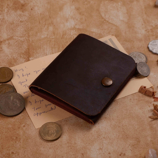 Ancient Card & Cash Leather Wallet - Cinnamon