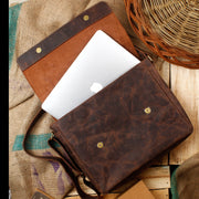 Journey Leather Messenger Bag