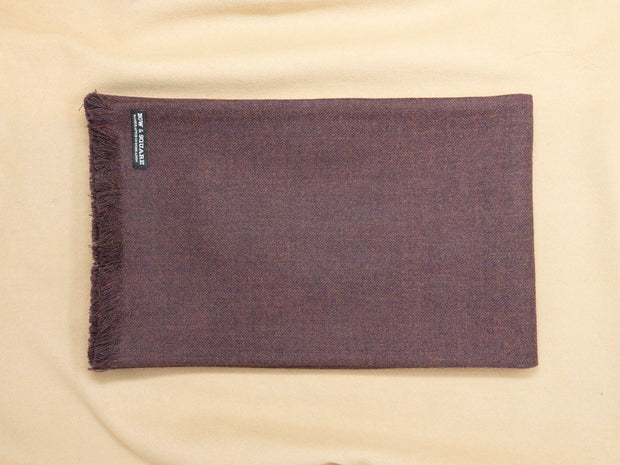 Merlot Red Plain Twill Scarf